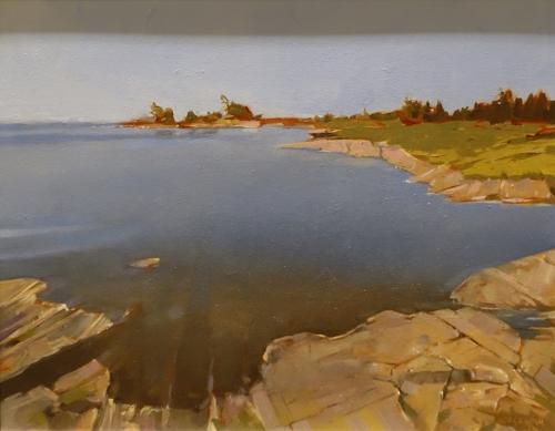 """Graham Stuart """"Honey Harbour Georgian Bay"""" Paint Ontario 2015 Honourable Mention"""