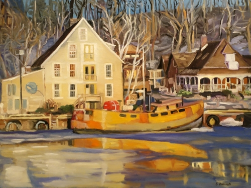 "Elizabeth Kusinski ""Winter in Port Stanley"" 2015 Paint Ontario Second"