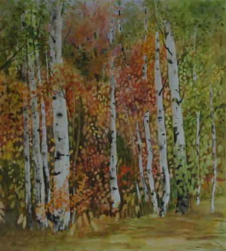 "E.M. Roberts ""Deep Woods Birches"" Paint Ontario 2015 Tom Crossman Award"