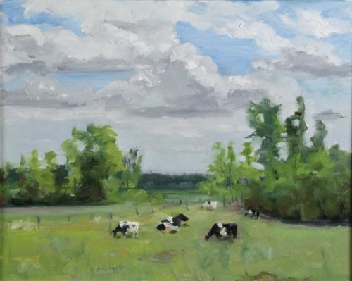 """J Allison Robichaud """"Lakeshore Rd Farm"""" Paint Ontario 2015 Honourable Mention"""