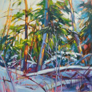 """Sun and Snow"" Acrylic by Vera-Kisseleva"